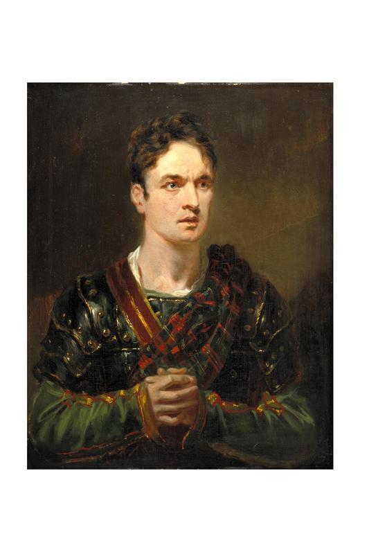 Oil painting of Macready as Macbeth
