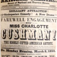 Farewell Performance: <em>As You Like It</em>, May 9, 1852