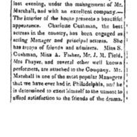 <em>Pennsylvania Inquirer and National Gazette</em>, Sept 08, 1843