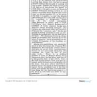 Brewster's Receptions, <em>Chicago Evening Post</em>, April 23, 1872